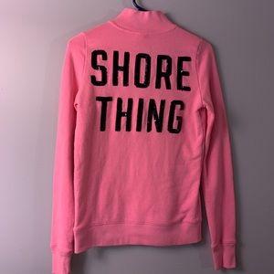 VS Pink bling half zip shore thing